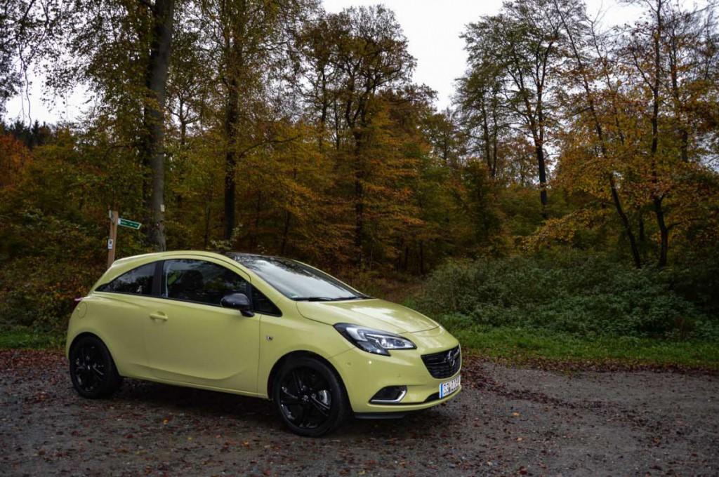 Opel Corsa E Limonen Gelb_